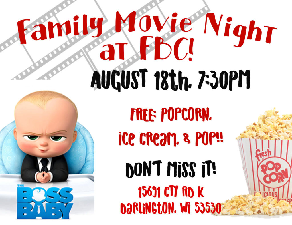 Family Movie Night Postcard